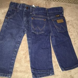 2 pairs of jeans for little infant boy